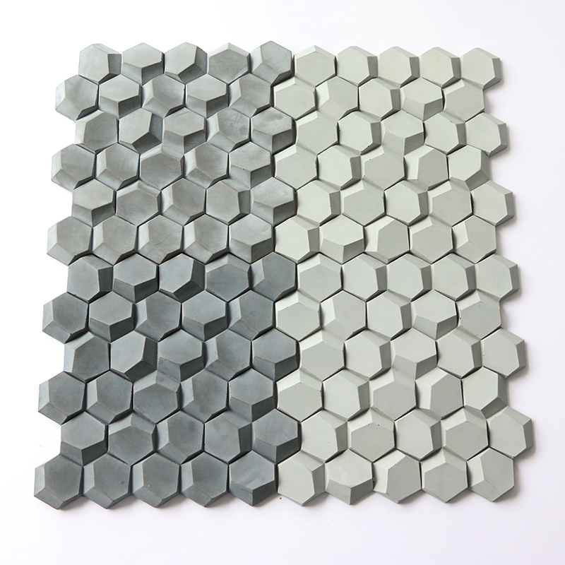 3D honeycomb design concrete wall tile silicone mold cement floor tile mold home decoration TV wall background wall tile mold