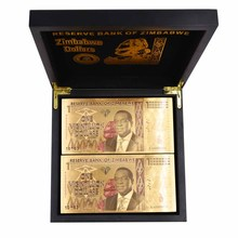 One Vigintillion Dollars 24K Gold Zimbabwe Banknotes Ticket for Collection and Souvenir Gift with UV Light 100pcs/lot