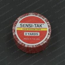 Sensi Tak ผมระบบเทปการแพทย์เทปสองด้านสำหรับม้วนผมสีแดง Liner กาวทำความสะอาดง่าย T002