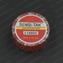 Sensi tak fita de sistema de cabelo médica dupla face fita para rolo de cabelo vermelho forro adesivo fácil limpo t002