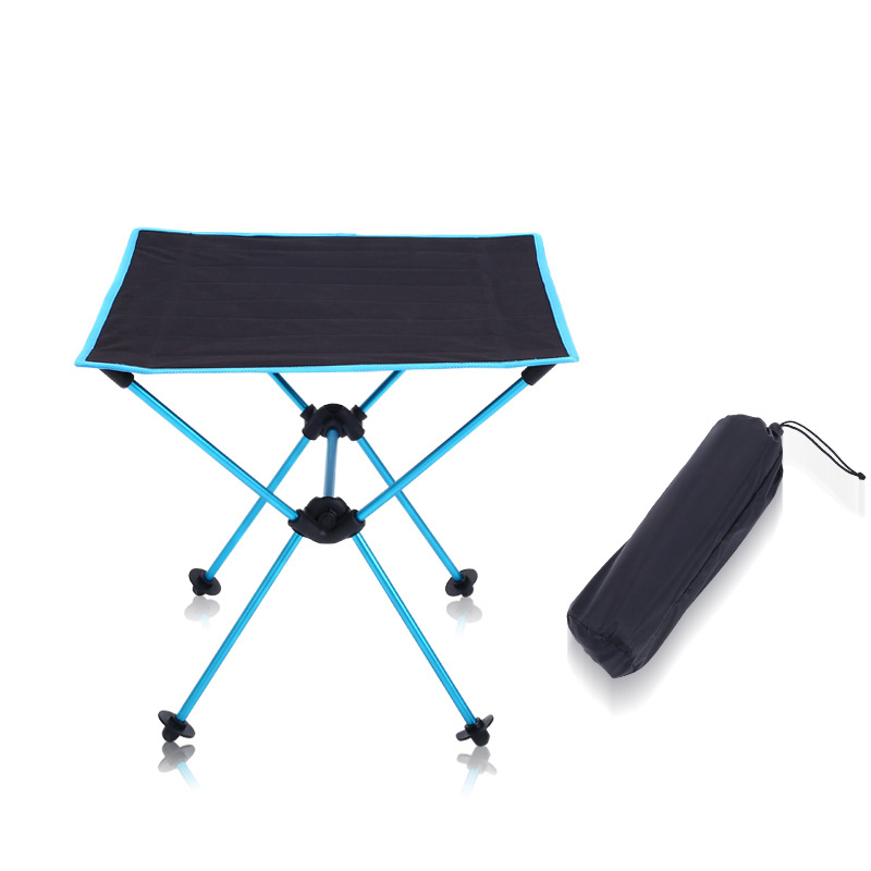 Image 2 - COSTWAY 600D Oxford Outdoor Ultra light Aluminum Alloy Portable Folding Table Picnic Table  Camping Barbecue Square Table W0207-in Outdoor Tables from Furniture