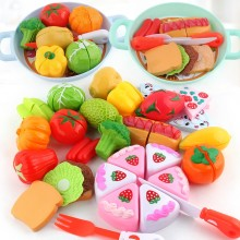 Kids Kitchen Toys Miniature Pretend Play Food Doll Plastic Fruit Vegetable Pizza Food Cake Fake Food Girls Toy For Children Gift(China)