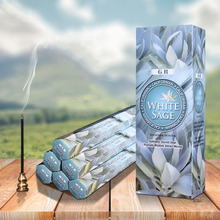 India Incense White Sage Imported Stick Incense Big Box Aromatherapy Incense Yoga Smells Relax for Indoor Living Room Use