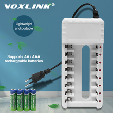 VOXLINK Battery Charger intelligent 8slots EU plug For AA/AAA Ni Cd Rechargeable Batteries For remote control microphone camera
