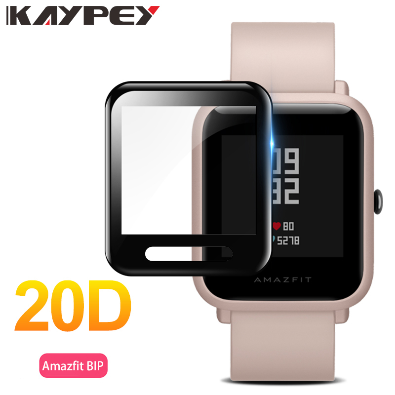 20D Full Coverage Screen Protector Film For Huami Amazfit Bip Watch Soft Round Screen Protector Cover Accessories (Not Glass)