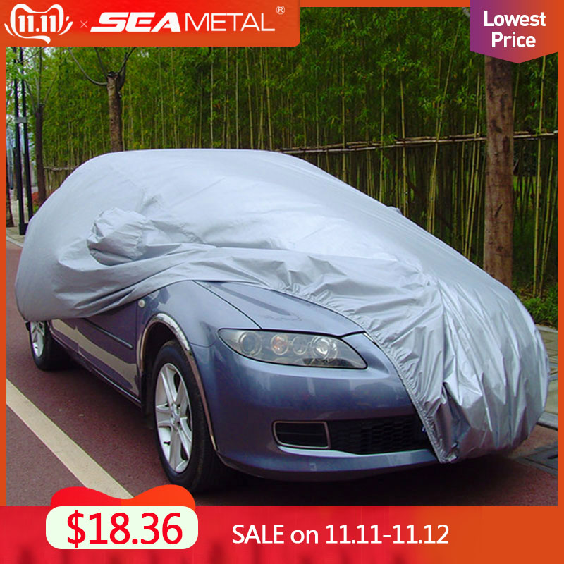 SEAMETAL Car Covers Sun Protection Sedan SUV Tent Reflective Covers Rain Frost Snow Dust Waterproof  Car covers Sunshade Outdoor-in Car Covers from Automobiles & Motorcycles