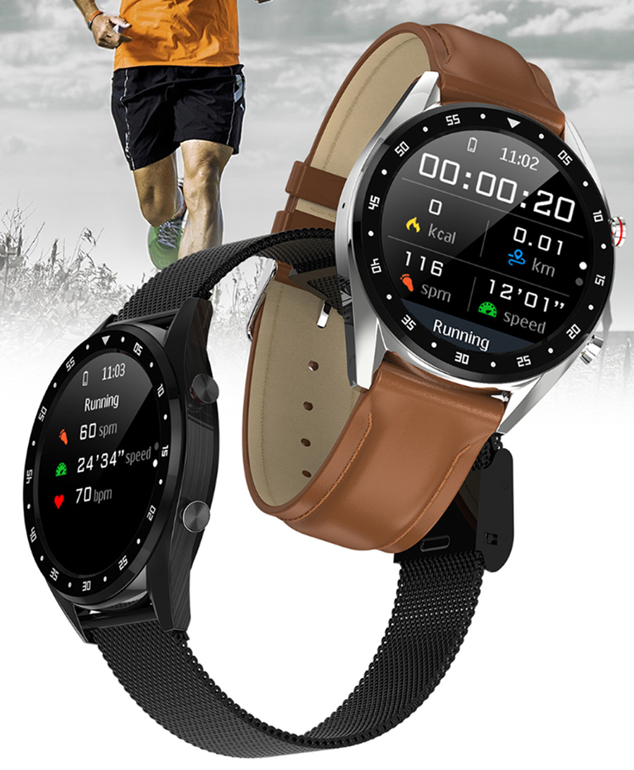 New L7 Smart Watch Men Women ECG Bluetooth Call Music Anti-lost Reminder Message Synchronize IP68 Waterproof for IOS Android image