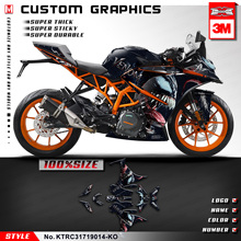 KUNGFU GRAPHICS Custom Sticker Kit Full Vinyl Wrap Waterproof Decal for RC 250 390 RC250 RC390 2017 2018 2019 2020 Venom