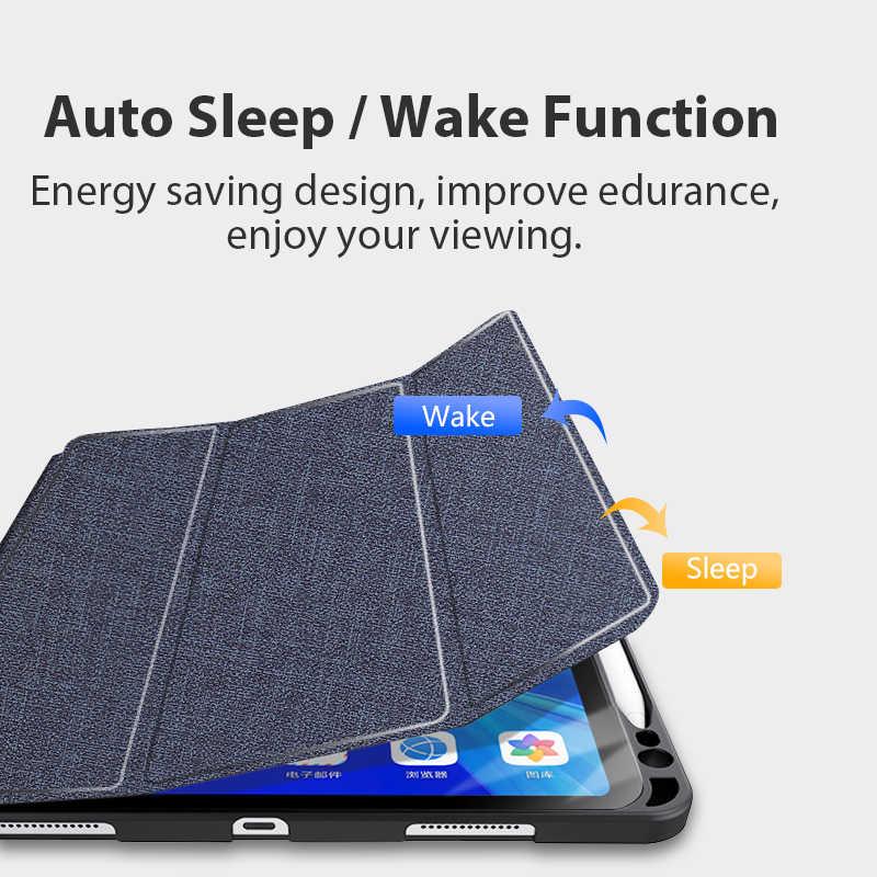 Per il caso di iPad Pro 11 2020 matita della cassa del supporto per iPad pro 11 della copertura molle Del Silicone per ipad Pro 11 2018 auto di sonno della copertura capa
