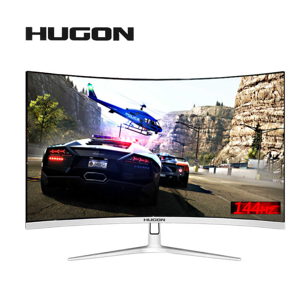 "HUGON 32 inç ""kavisli 144Hz oyun LED monitör kenar az AMD FreeSync DisplayPort DP/HDMI arayüzü"