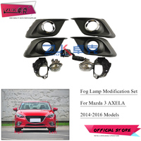 ZUK Front Bumper Fog Light Fog Lamp Modification Set For Mazda 3 Axela 2014 2015 2016 With Light Switch Chroming Cover