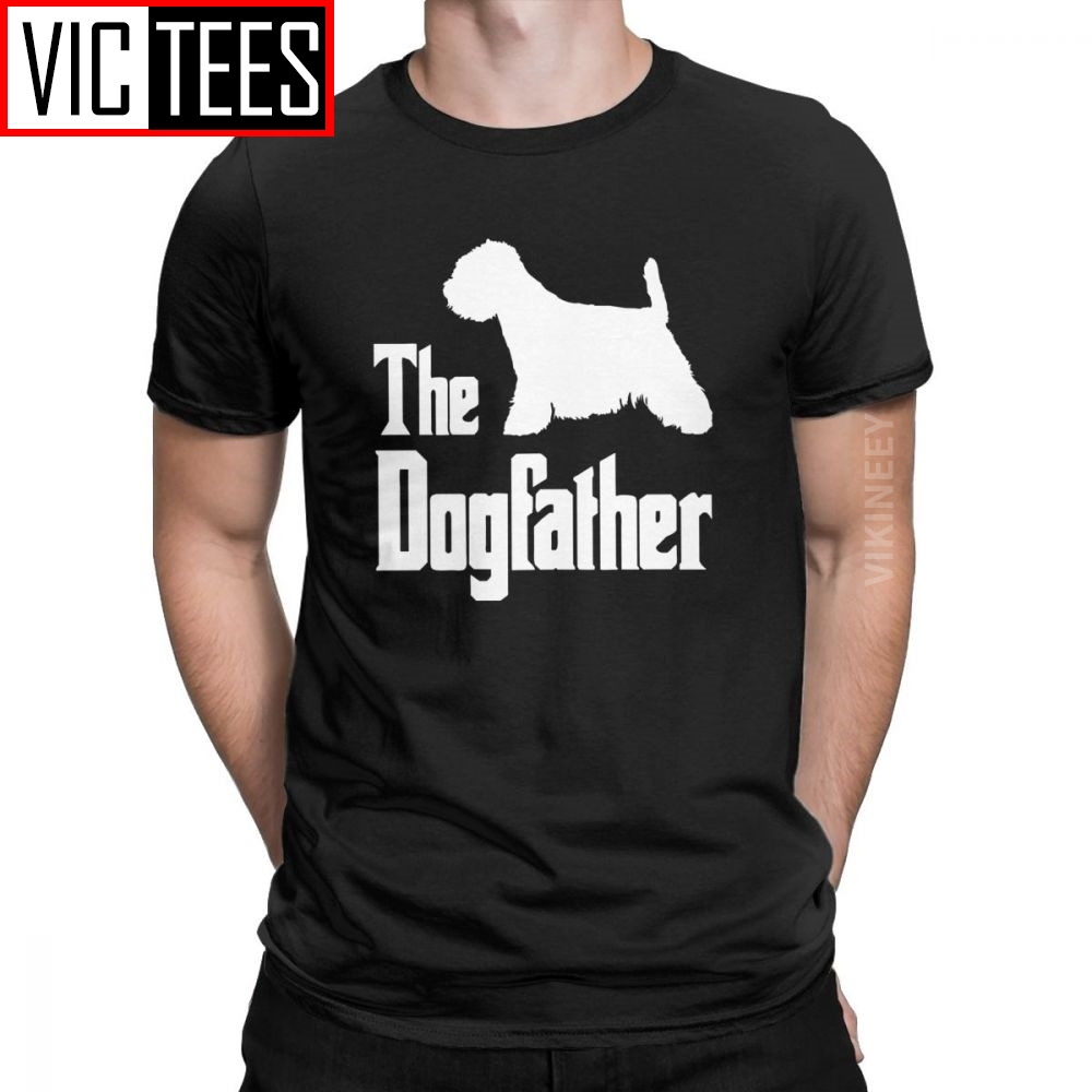 The Dogfather West Highland White Terrier Dog T Shirt Men 100 Percent Cotton Cool T-Shirt Funny Wholesale Westie Oversized