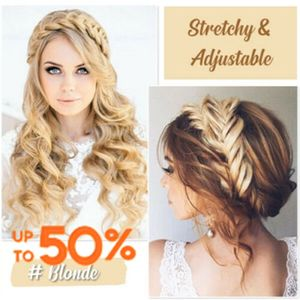3.5cm Wide Synthetic Wig Twist Elastic Hair Bands Braids Bohemian Plait Headbands For Women Stretch Girls Hair Accessories #P20(China)