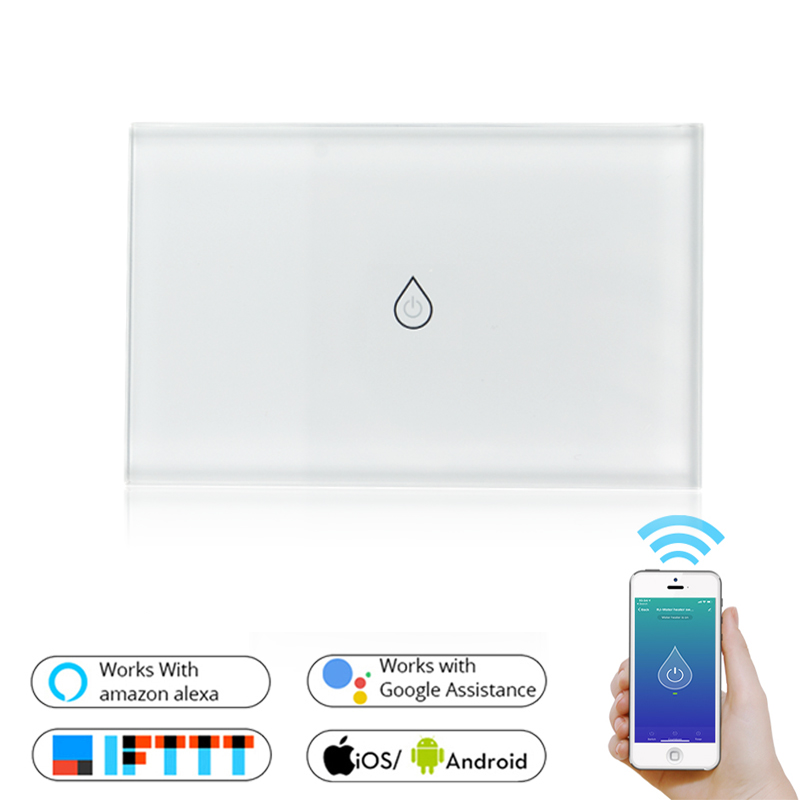 WiFi Smart Boiler Switch Water Heater Smart Life Tuya APP Remote Control Amazon Alexa Echo Google Home Voice Control Glass Panel