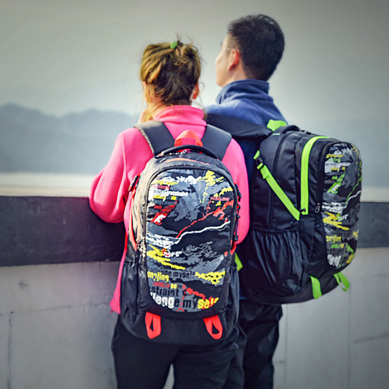 New Style Outdoor Backpack Graffiti Travel Sports Casual For Both Men And Women Backpack Large Capacity Waterproof STUDENT'S Bac