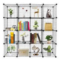 16 Cube Organizer Cube Storage Shelves Origami Shelves Metal Grid Multifunction Shelving Unit Modular Cubbies Organizer Bookcase
