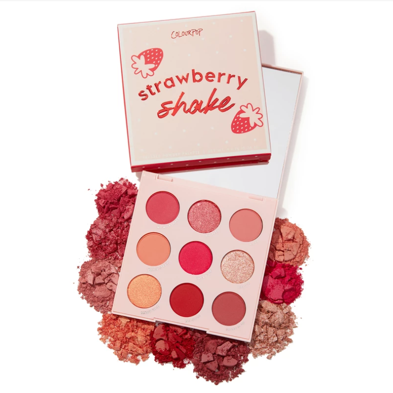 Colourpop Glitter And Matte 9 Colors Strawberry Shake Eyeshadow Palette