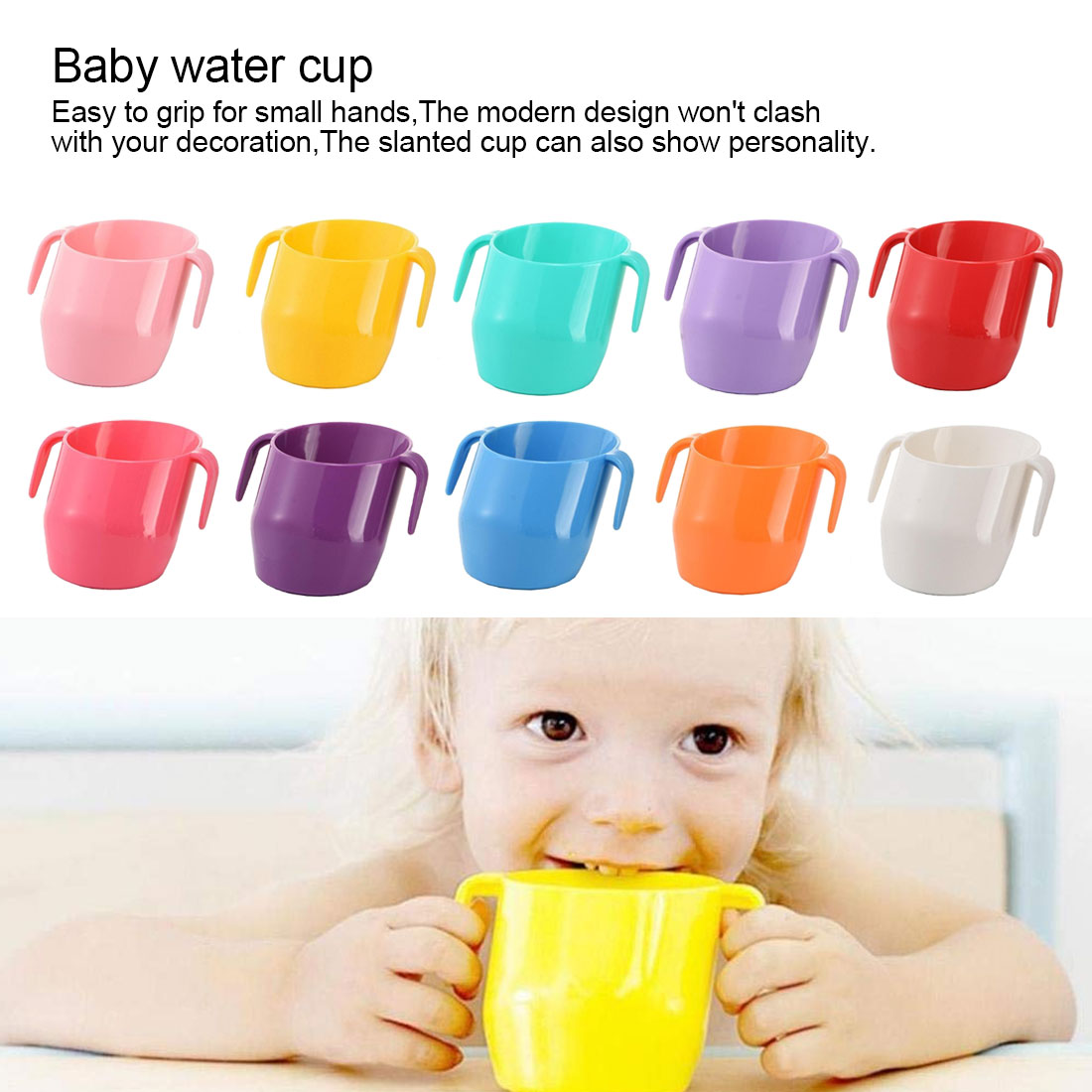 Baby Insulation Oblique Mouth Cup Infant Learning Drinking Cups Toddler Leakproof Water Milk Mug Children Drinking Bottle Care