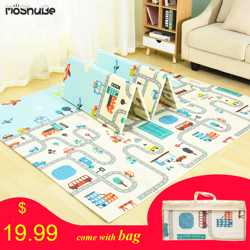 Foldable Baby Play Mat Xpe Puzzle Mat Educational Children's Carpet in the Nursery Climbing Pad Kids Rug Activitys Games Toys(China)