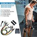11 pçs crossfit faixas de resistência tubo conjunto estiramento treinamento borracha expansor tubos pilates fitness goma elástica puxar corda equipamentos
