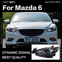 AKD Car Styling for Mazda 6 Atenza LED Headlight 2013 2017 Mustang Design LED DRL Hid Head Lamp Angel Eye Bi Xenon Accessories
