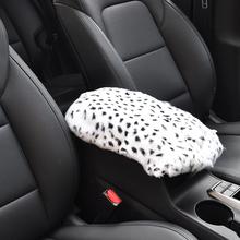 Styling Soft Artificial Rabbit Fur Interior Protective Center Car Armrest Pad Mat Universal Winter Decoration Warm Vehicle