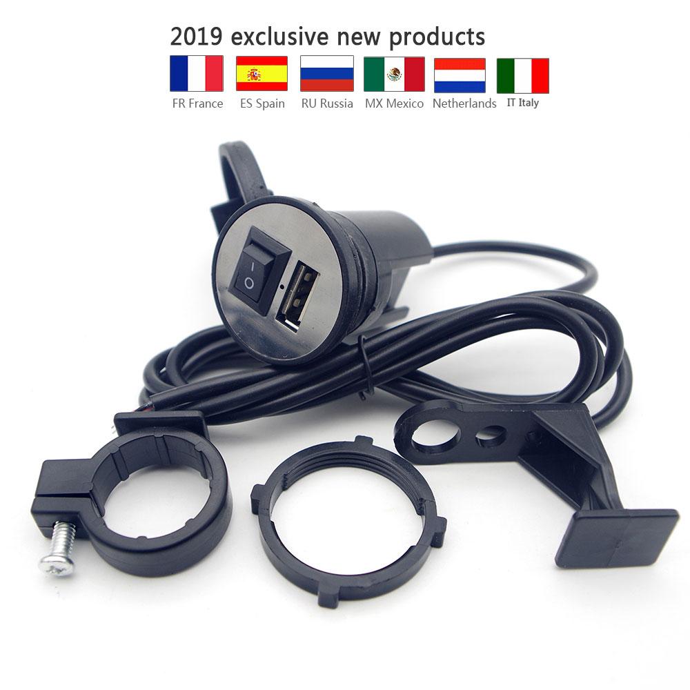 Cell Phone Holder Mount w// USB Charger for Yamaha V-Star 650 950 1100 1300 XVS