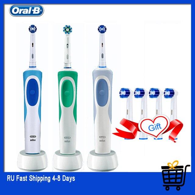 Oral B Sức Sống Bàn Chải Đánh Răng Điện Sạc Răng Bàn Chải Precision Clean 2 Phút Hẹn Giờ + 4 Tặng Thay Thế Đầu Miễn Phí Vận Chuyển