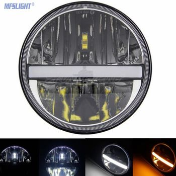 7 inch Motorcycle LED Headlight Projector Lights For Jeep DRL High Low Beam Driving Lamp For Harley Davidson Touring