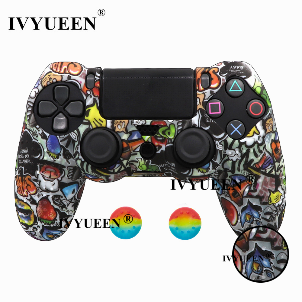 for PlayStation 4 ps4 Pro slim controller silicone case skin 26