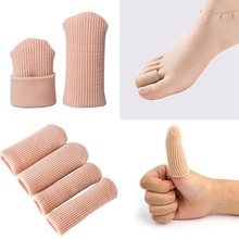 1Pc Toe Separators Fabric Gel Tube Bandage Finger and Toe Protector Hand Foot Pain Relief Cover for Feet Can Cilp Length