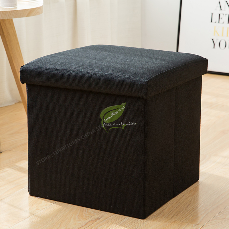Multifunction Storage Adult Sofa Stool Cotton And Linen Home Fashion Pouffe Ottoman Tabouret Dotomy Bedroom Furniture30*30cm