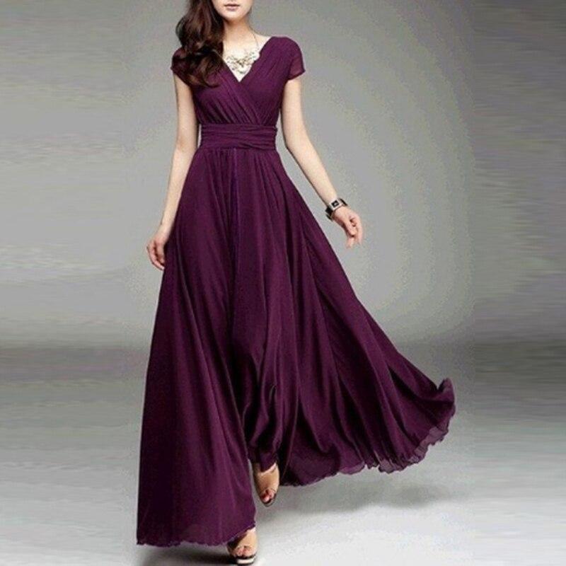 Женское длинное богемное Макси-платье с коротким рукавом, облегающие и расклешенные вечерние платья длиной до щиколотки, женское пляжное