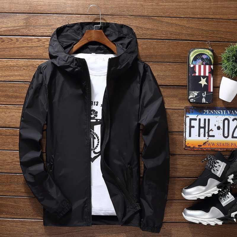 Plus size 6xl 7xl nova primavera verão bombardeiro jaqueta masculina feminino casual sólido blusão com capuz fino casaco outwear masculino