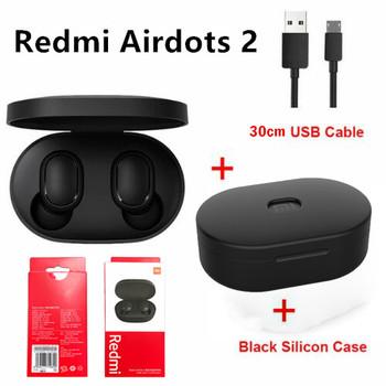Xiaomi Redmi AirDots 2 TWS Bluetooth 5 0 redukcja szumów z mikrofonem AI Control Redmi AirDots S prawdziwy bezprzewodowy zestaw słuchawkowy tanie i dobre opinie Tłok douszne NONE Wyważone CN (pochodzenie) wireless Liniowa instrukcja obsługi Etui ładujące Kabel do ładowania do 32Ω