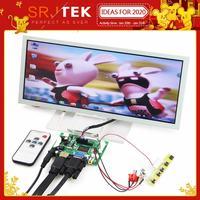SRJTEK 12.3 LCD Display Screen Monitor Driver Board Controller Remote LQ123K1LG03 VS TY2662 V1 HDMI VGA 2AV For Raspberry Pi 3