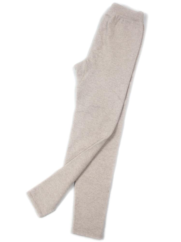100%cashmere Knit Pants Skinny Trousers Leggings For Unisex Autumn Winter S/M/L 4colors Available