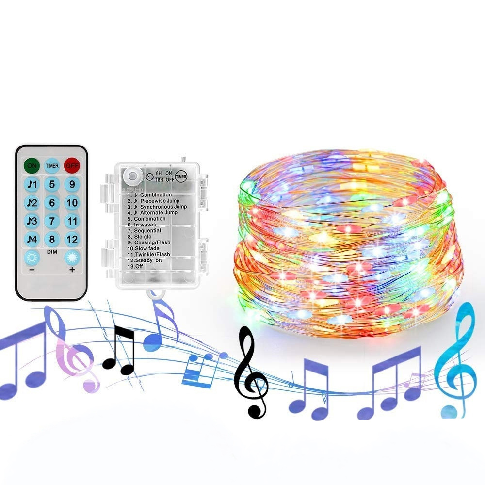 20 Meters Remote Control Lighting Strings Battery Box Light String 200 LED Waterproof Creative Party Christmas Wedding Light