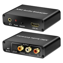 HDMI-compatible Adapter ARC L/R Coaxial SPDIF Jack Extractor Return Channel 3.5mm Headphone for TV