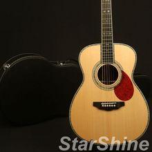 Новое поступление Hardmade High-End limated Edition Акустическая гитара Ом Стиль Полная твердая ель