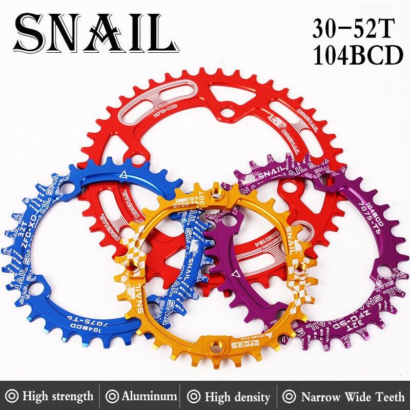 SNAIL 104BCD 30T Chainring /& Bolts MTB Bike Narrow Wide Single Speed Chainwheel