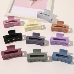 Simple Square Geometric Frosted Hair Claws Clamps Acetate Hairpins Women Hollow Out Ponytail Clips Makeup Styling Tools Headwear