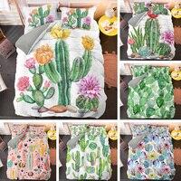 Personalizzare Cactus Con Fiori Queen Set di Biancheria Da Letto Del Fumetto Plants Copripiumino e Federa King Size Letto Set di 2/3pcs