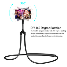 Universal Lazy Hanging Neck Phone Holder Stands Flexible Mob