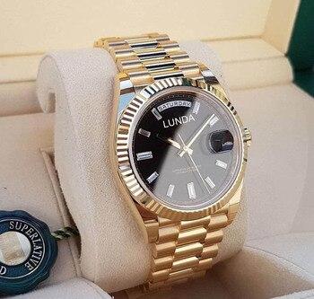 AAA Luxury Wrist watch Fashion Mechanical Brand High Quality Gold Steel Strap Watch for Male  Designer Men Business Watch steel strap tachymeter wrist watch