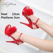 2021 novo pólo sapatos de dança 13 15 cm plataforma super salto alto sandálias sexy boate festa clube passarela modelo mostrar sapatos femininos