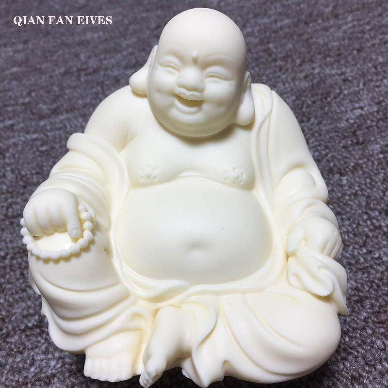 White Chinese Laughing Buddha Statue Modern Art Sculpture Buddha Statue With Big Belly High End Home Decoration Statue Statues Sculptures Aliexpress