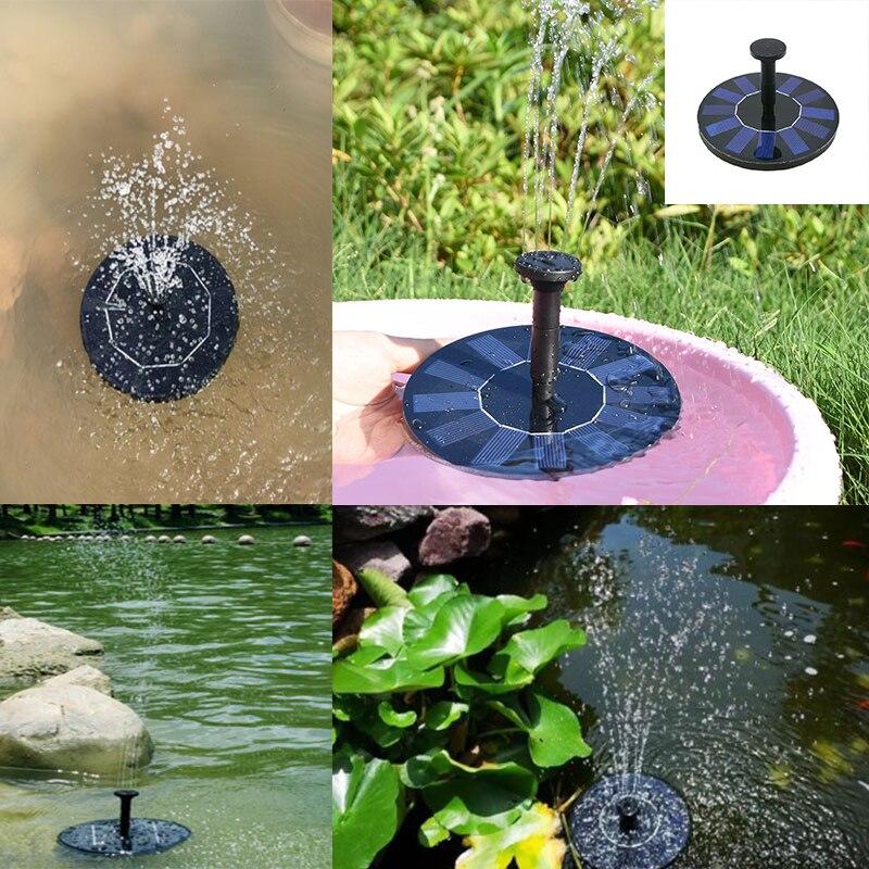 1Set Mini Solar Power Water Fountain Garden Pool Pond Outdoor Solar Panel Bird Bath Floating Water Fountain Pump Garden Decor