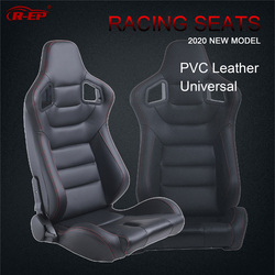 R-EP, универсальное гоночное сиденье для тюнинга, спортивный автомобиль, симулятор, ведро, сиденья, регулируемые, черный, ПВХ, кожа, XH-1041-BK