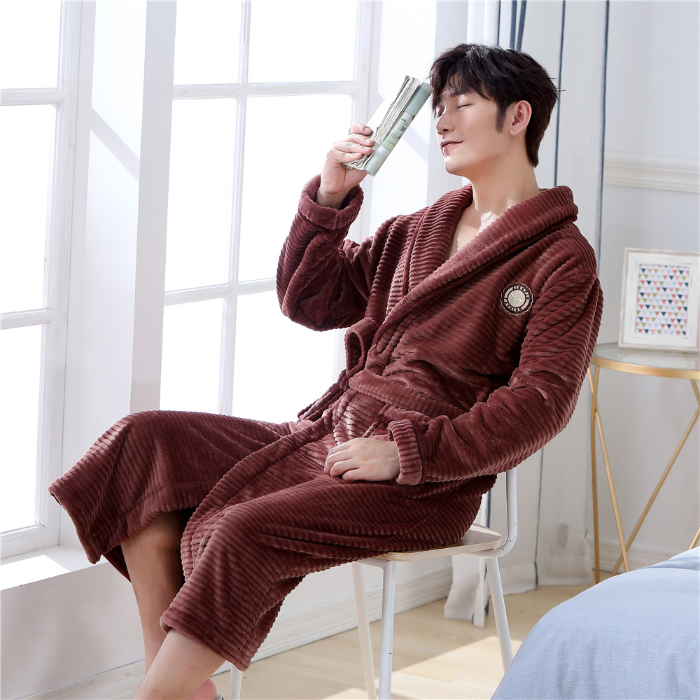 Kimono Gown Casual Short Flannel Robe Nightwear Novelty Bathrobe Sleepwear Intimate Lingerie Home Clothing Coral Fleece Negligee